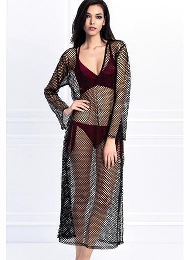 Esotte Beachwear Plaj Elbisesi Siyah